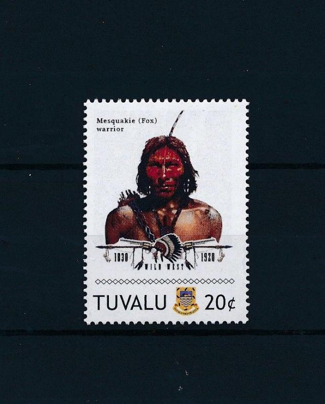 [80919] Tuvalu 2011 Native Americans Indians Mesquakie Warrior MNH