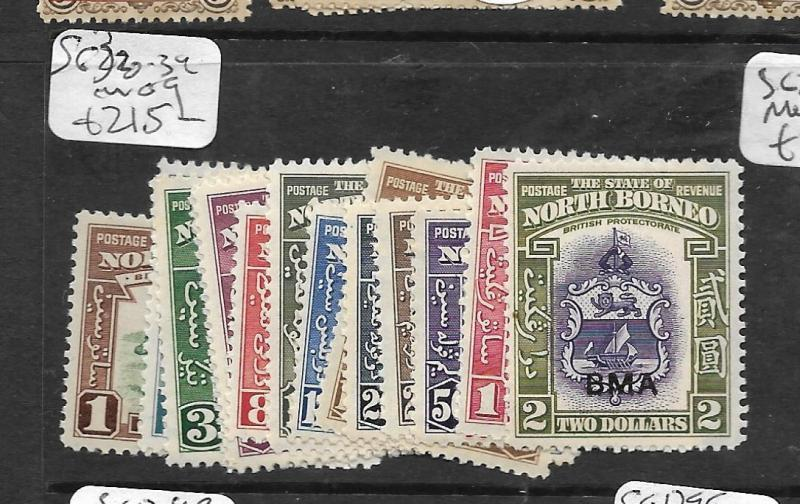 NORTH BORNEO (P2603B) BMA SET TO $2.00 SG 320-334  MOG