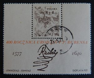 Polska, 400 years of the birth of Rubens (2359-Т)