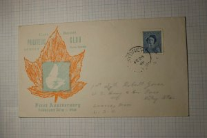 Canada Cape Breton Philatelic Club Sydney Nova Scotia 1948 Cachet Cover Sc# 276