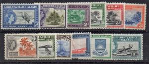 Gilbert & Ellice Sc61-72 1956 1st QE II long stamp set mint