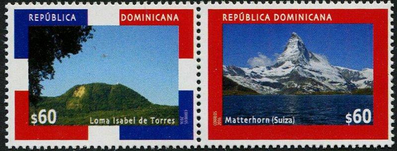 HERRICKSTAMP NEW ISSUES DOMINICAN REPUBLIC Sc.# 1602 Relations w/Switzerland