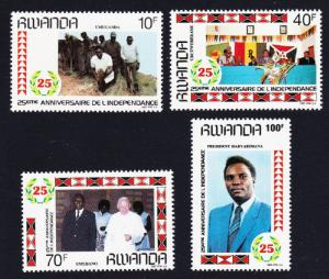 Rwanda MNH 1283-6 25th Anniversary Of Independence 1987