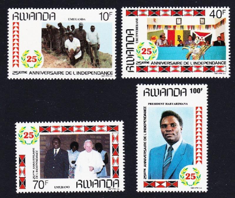 Rwanda MNH 1283-6 25th Anniversary Of Independence 1987