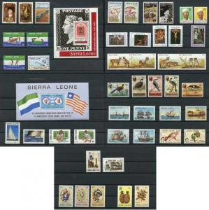Sierra Leone 50 Different Mint NH Collection SCV $70+ offered at 85% discount !!