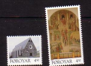 Faroe Islands Sc 310-1 1996  Christmas stamp set mint NH