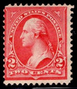 US Stamp #279B 2c Red Washington MINT Hinged SCV $9.00 Type IV