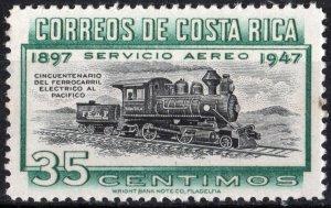 Costa Rica SC#C159 35¢ 50th Anniversary: Pacific Railway Treaty (1947) MNH