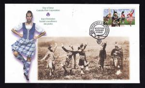 Canada-Sc#1655-stamp on FDC-Highland Games-1997-
