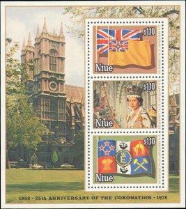 Niue #221d, Complete Set, Souvenir Sheet, 1978, Royality, Never Hinged