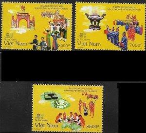 2015 Vietnam UNESCO SC# 3523-3525 Mint
