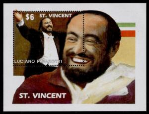 St Vincent 1505 MNH Luciano Pavarotti, Music