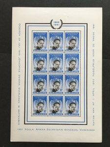 1962 Suriname Mini sheets Dag Hammarskjold Sc# 301-2, Imperforate margins