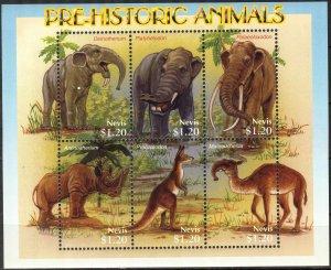 Nevis 2005 Prehistory Animals Mammoths Sheet MNH