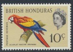 British Honduras SG 207 SC # 172 MLH  Birds Macaw  see scans