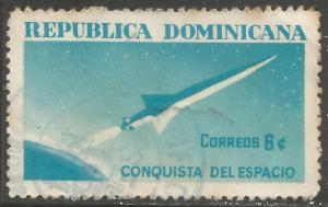 DOMINICAN REPUBLIC 601 VFU SPACE X783-1