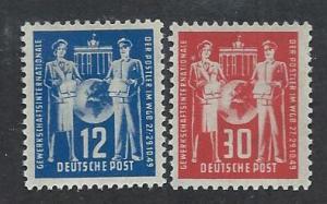 GERMANY - DDR SC# 49-50 FVF/OG 1949