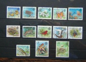 Seychelles 1977 Marine Life Values to 10r Used