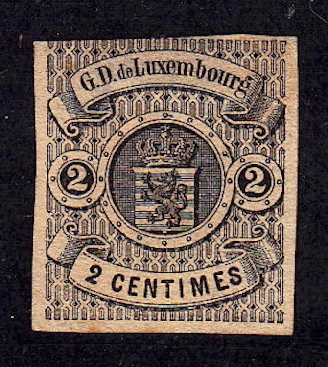 Luxemburg #5, Unused, hinge remnant, CV$125.00