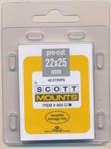 Prinz Scott Stamp Mounts Size 22 / 25 CLEAR Background Pack of 40