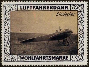 Germany WWI Eindecker Air Force Memorial Luftfahrerdank Flight MNH Cinde G102817