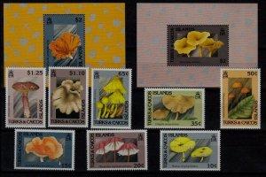 Turks Caicos 923-32 MNH Mushrooms SCV30.35