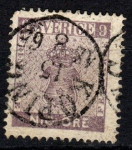 Sweden #7 F-VF Used CV $250.00 (X5293)