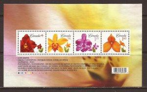 2007 Canada - Sc 2243 - used VF - Mini Sheet - Flower Definitives