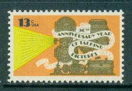 1727 13c Talking Pictures Fine MNH Plt/4 UR 38000 F13648
