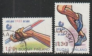 1983 Finland - Sc 682-3 - used VF - 2 single - World Athletic Championships