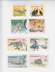 Mini-collection 8 used Zimbabwe commems betw Sc#s 614 - 631