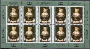Lithuania. 1996. Small sheet 608. Picture of europe. MNH.
