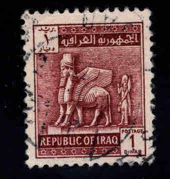 IRAQ Scott 332 Khorsbad the Winged bull  key Used 1963 stamp