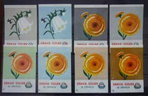 Match Box Labels! flora flower flowers nature osijek croatia yugoslavia GJ40