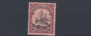MARSHALL  ISLANDS 1901   S G  G18   50PF  BLACK &  PURPLE      MNH