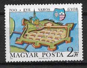 1971 Hungary 2065 Gyor Castle 700th Anniversary MNH