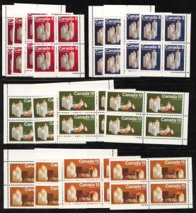 Canada - USC #606p-609p 1972 Xmas Candles Winnipeg Tagged Corner Blocks mint