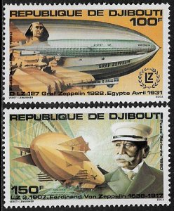 Djibouti #C138-9 MNH Set - Graf Zeppelin
