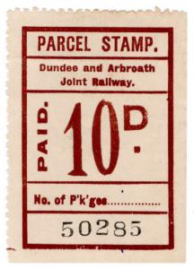 (I.B) Dundee & Arbroath Joint Railway : Parcel Stamp 10d
