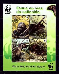 Peru 1433 MNH 2004 Animals (W.W.F.) S/S