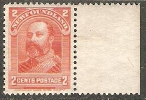 Newfoundland 1898 Scott 82 Edward VII as Prince of Wales MNH