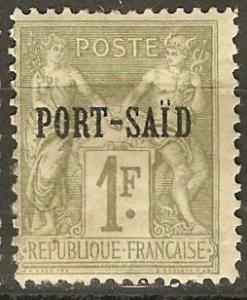 France Off Egypt Pt Said 13 Mi 28 MH Fine 1899 SCV $30.00