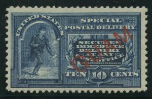 GUAM #E1S VAR 10c 1899 SPECIAL PRINTING VF-XF OG LH RARE CV $1,250+ WLM7957
