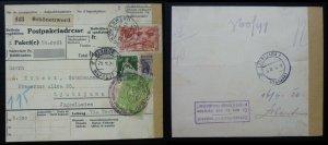 Switzerland 1926 Slovenia Yugoslavia Parcel Card Schonenwerd - Ljubljana  C2