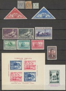 COLLECTION LOT # 3782 SPAIN 12 STAMPS +2 SS 1860+ CV+$23