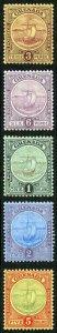 Grenada SG84/88 1908 Set of 5 Fresh M/Mint