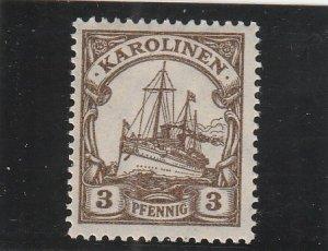 Caroline Islands  Scott#  21  MH  (1919 Kaiser's Yacht)