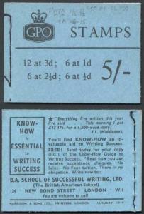 H37b Jan 1959 5/- Booklet CCCEC
