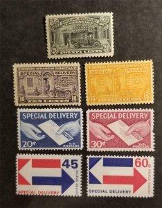 US E14 E15 E16 E20 E21 E22 E23 MH OG Special Delivery Lot G2725
