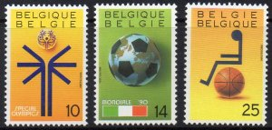 Belgium MNH Set World Cup Special Olympics 1990